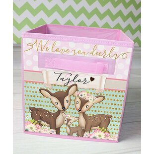 Deer Personalized Fabric Bin By Toad and Lily