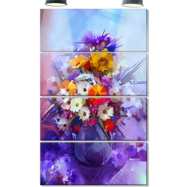 DesignArt Watercolor Flowers in Purple Vase' 4 Piece Painting Print on flower butterfly painting, flower wreath painting, flower window painting, bottle flower painting, flower bed painting, flower still life oil paintings, flower table painting, frame painting, flower mirror painting, flower box painting, flower vases with flowers, flower light painting, flower oil paintings christmas, candle painting, bird-and-flower painting, flower white painting, flower bowl painting, modern palette knife painting, flower stand painting, flower girl painting,