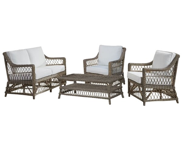 Seaside 4 Piece Conservatory Living Room Set by Panama Jack Sunroom
