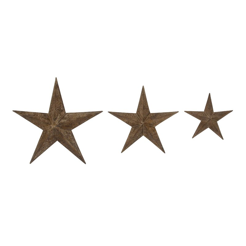 3 Piece Artistic Stars Decorative Wall Décor Set & Reviews   Joss & Main