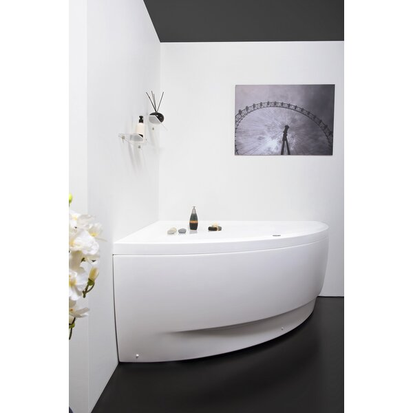 Olivia™ Relax Corner  55 x 55  Freestanding Whirlpool Bathtub by Aquatica