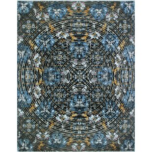 Find a One-of-a-Kind Alvey Hand-Knotted Black/White Area Rug By Isabelline
