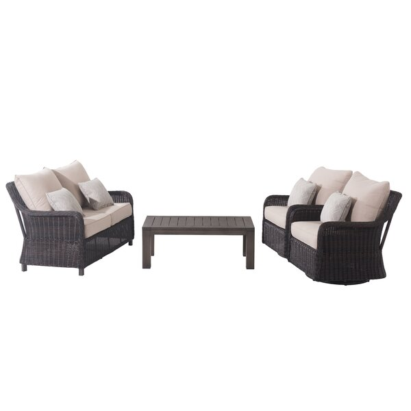 Macri 4 Piece Rattan Sofa Seating Group with Cushions (Set of 4) by Red Barrel Studio