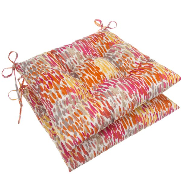 Tufted Indoor/Outdoor Dining Chair Cushion (Set of 2)