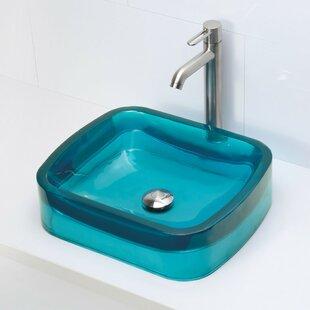 Price Check Lacee Incandescense Plastic Rectangular Vessel Bathroom Sink By DECOLAV
