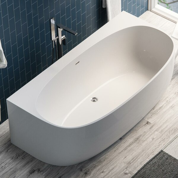 Ocala Acrylic 58 x 33 Alcove Soaking Bathtub by Maykke
