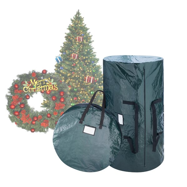 2 Piece Christmas Tree and Wreath Storage Bag Set by Rebrilliant