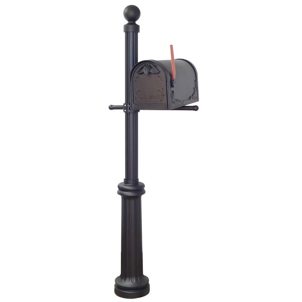 Floral Curbside Mailbox with Fresno Post Included by Special Lite Products