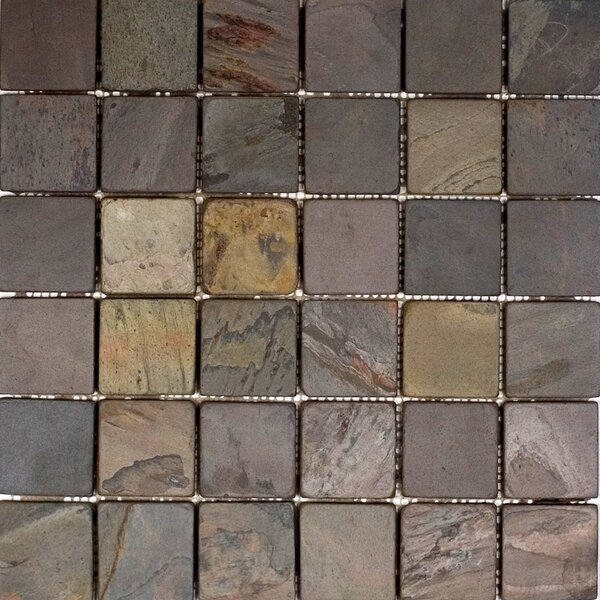 2 x 2 Slate Mosaic Tile in Indian Rain by Epoch Architectural Surfaces