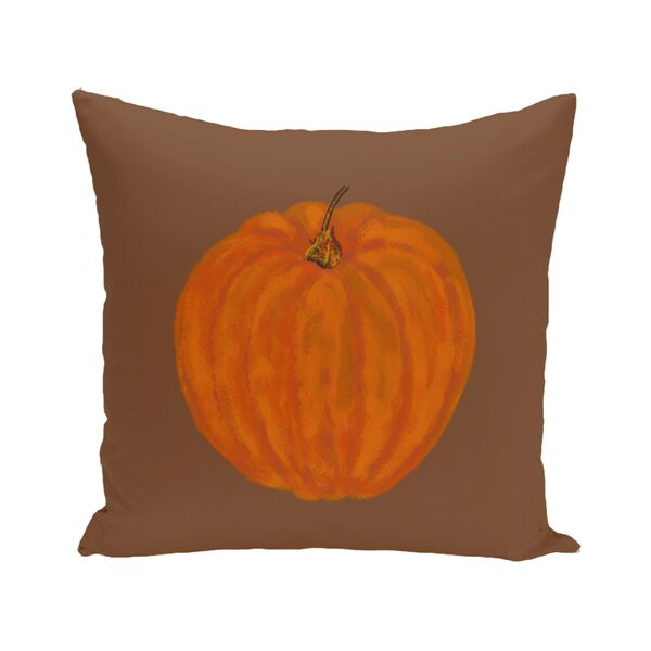 Pickrell Pumpkin Holiday Print Floor Throw Pillow by August Grove