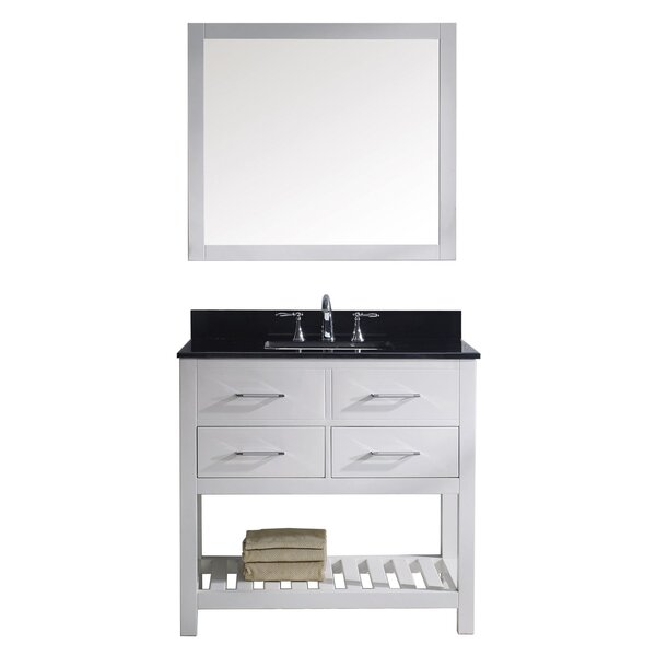 Rishaan 35 Single Bathroom Vanity Set with Mirror by Willa Arlo Interiors