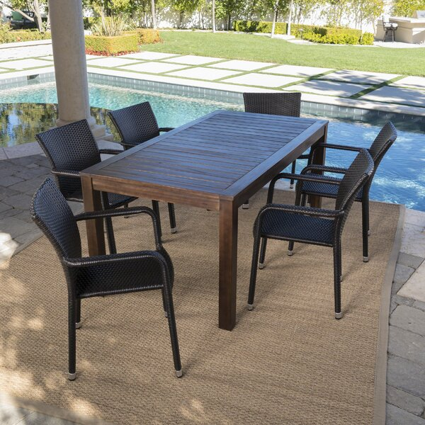 Appleby Outdoor 7 Piece Dining Set by Brayden Studio