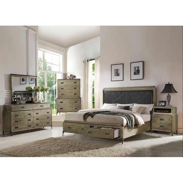 Cosima Upholstered Storage Panel Configurable Bedroom Set by Gracie Oaks