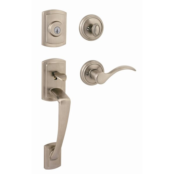 Nautica Single Cylinder Handleset with Tobin Lever Featuring SmartKey by Kwikset