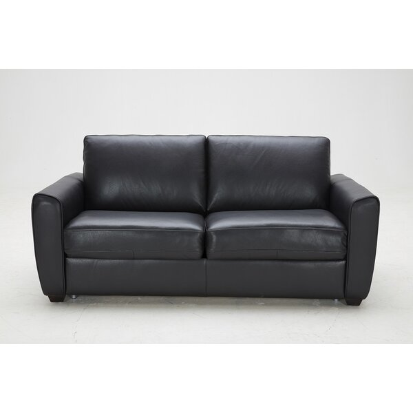 StonyPoint Leather Sofa Bed By Winston Porter