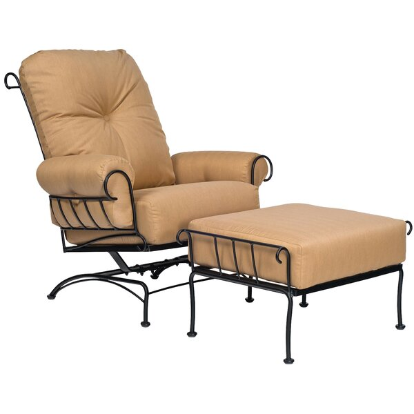 Terrace Spring Patio Chair with Cushion and Ottoman by Woodard Woodard