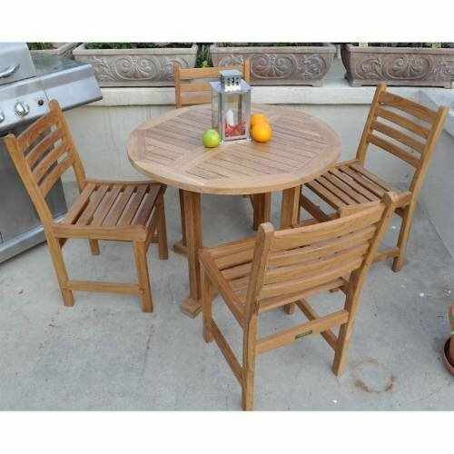 Wyndham 5 Piece Teak Dining Set by Anderson Teak