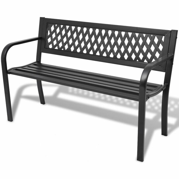 Steel And Plastic Garden Bench By East Urban Home by East Urban Home Best #1