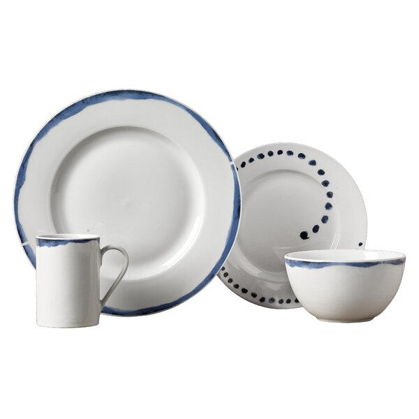 Stoneham 16 Piece Dinnerware Set, Service for 4 by Charlton Home