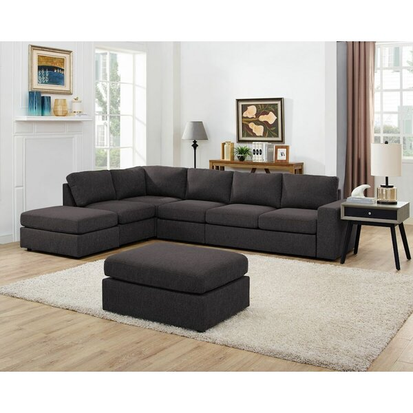 Lailah Modular Sectional with Ottoman by Ivy Bronx