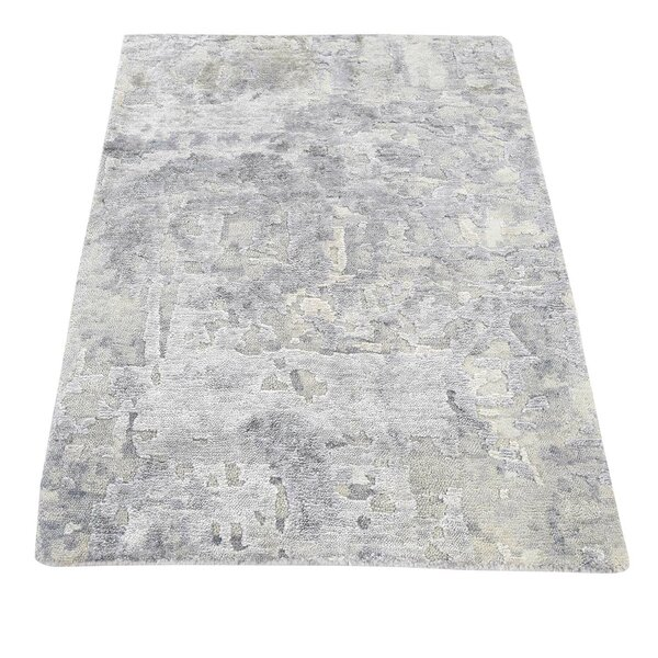 One-of-a-Kind Eddyville Hi-Lo Hand-Knotted Gray/Taupe Area Rug by 17 Stories