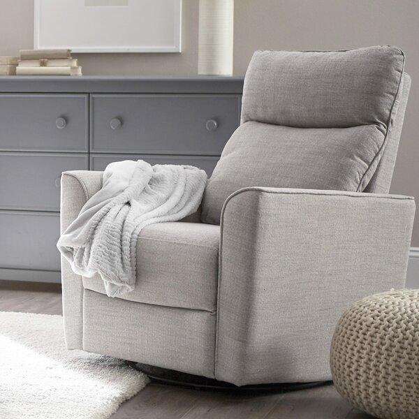 Soho Comfort Upholstered Swivel Glider by Karla Dubois