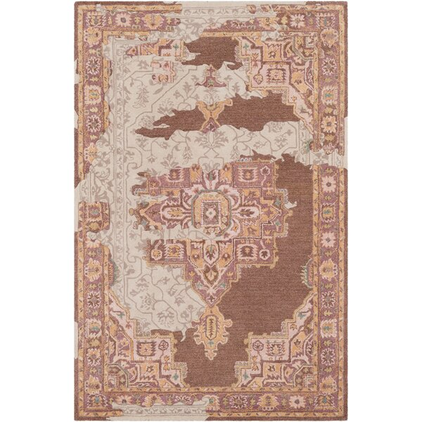Landreth Hand Tufted Wool Distressed Rust/Brown Area Rug by Bloomsbury Market