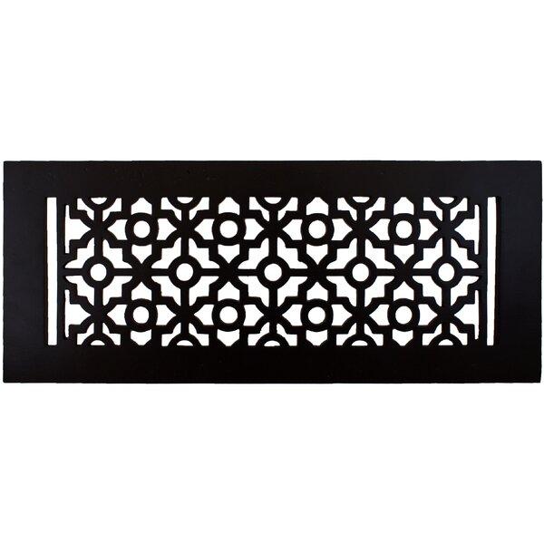 5.5 x 13.5 Pasadena Floor Register in Black by Hamilton Sinkler
