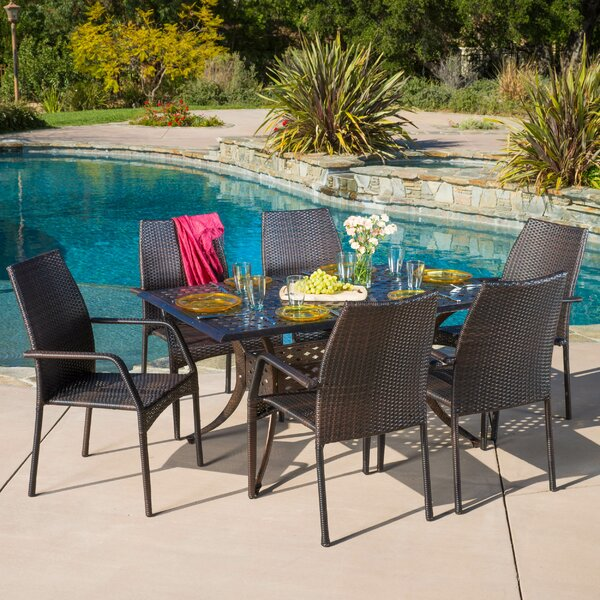 Umstead 7 Piece Dining Set by Highland Dunes