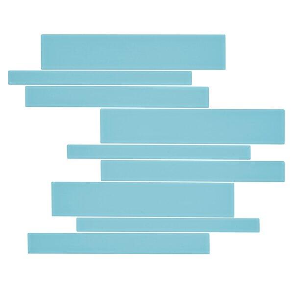 Linear Glass 11 x 13 Glass Tile in Bermuda Blue by Kellani