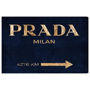 Milan Textual Art on Wrapped Canvas by Mercer41