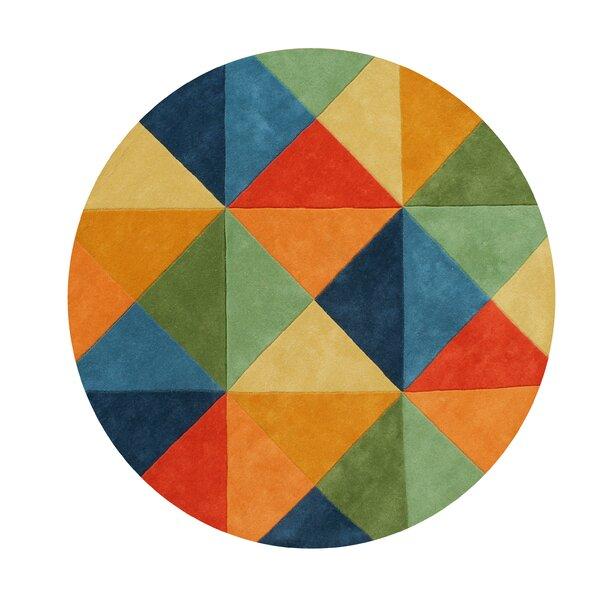 Kinley Blend Hand-Tufted Wool Green/Blue/Orange Area Rug by Latitude Run