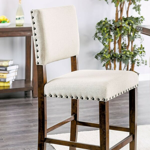 Rice Counter Height Upholstered Dining Chair (Set of 2) by Gracie Oaks