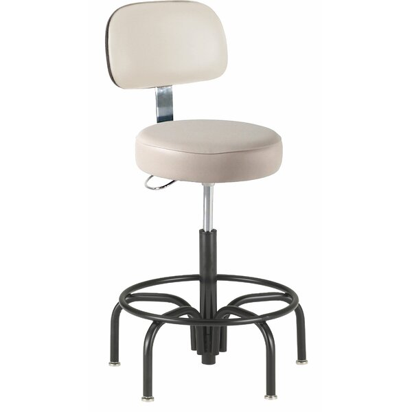 Height Adjustable Lab Stool with Footring by Intensa