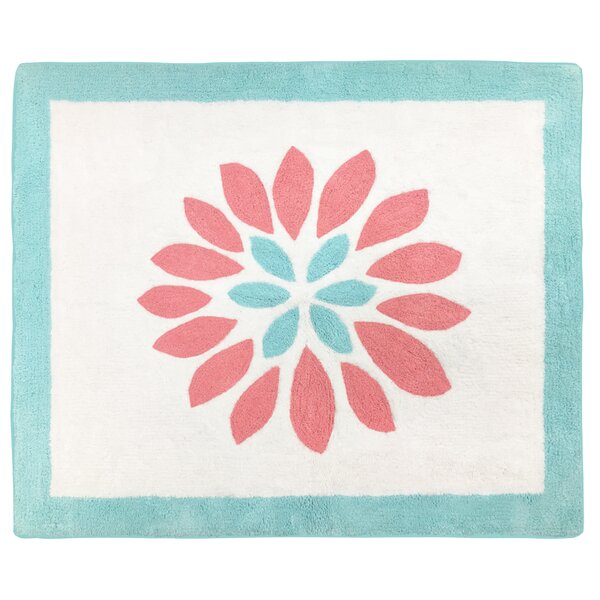 Emma Hand-Tufted Blue/Pink/White Area Rug by Sweet Jojo Designs