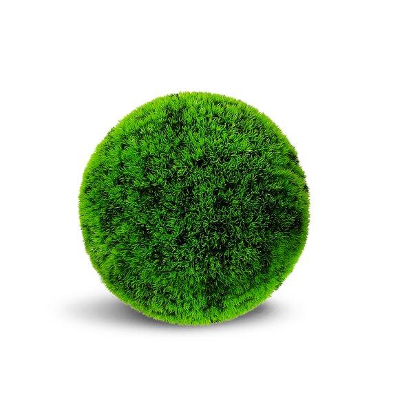 Artificial Grass Ball Floor Moss Topiary by Orren Ellis