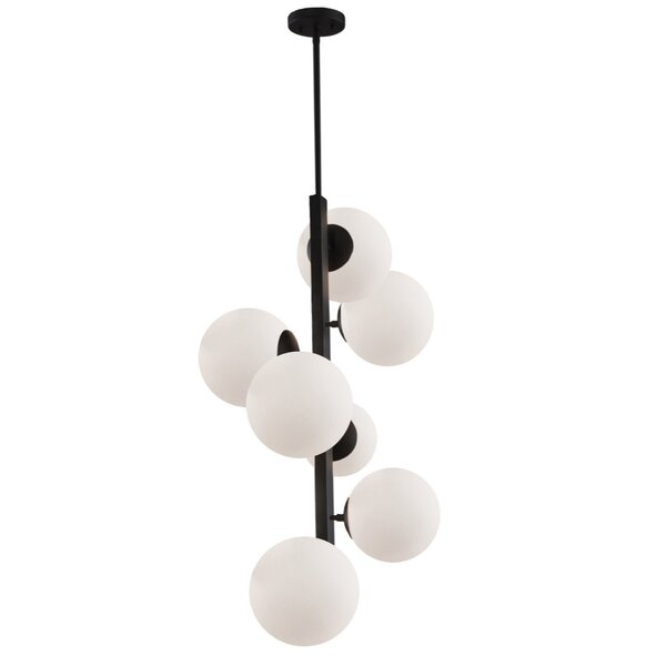 Hazard 7 - Light Shaded Tiered Chandelier By George Oliver