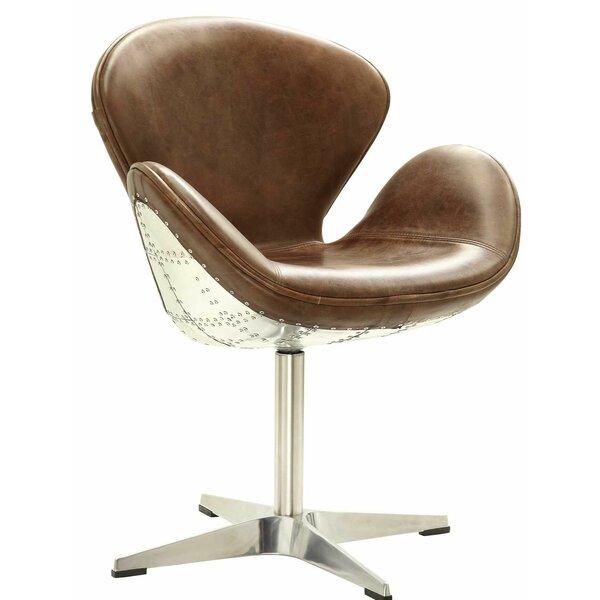 Regina Swivel Barrel Chair by 17 Stories 17 Stories