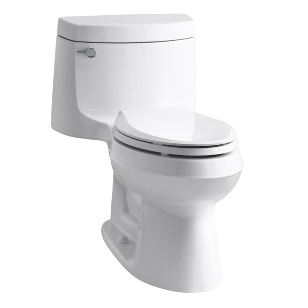 Cimarron Comfort Height One-Piece Elongated 1.28 GPF Toilet with Aquapiston Flush Technology and Left-Hand Trip Lever by Kohler