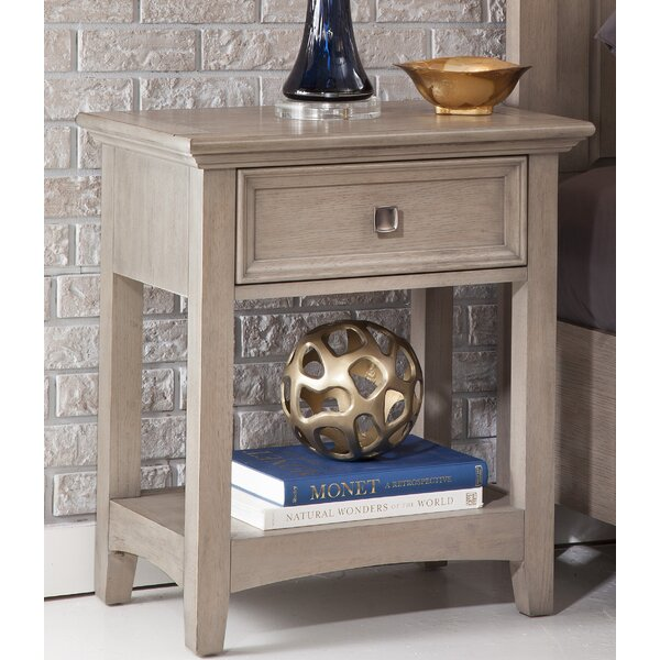 Escobar 1 Drawer Nightstand by Rosecliff Heights