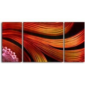 Spun with Satin Scarves 3 Piece Graphic Art Plaque Set by My Art Outlet