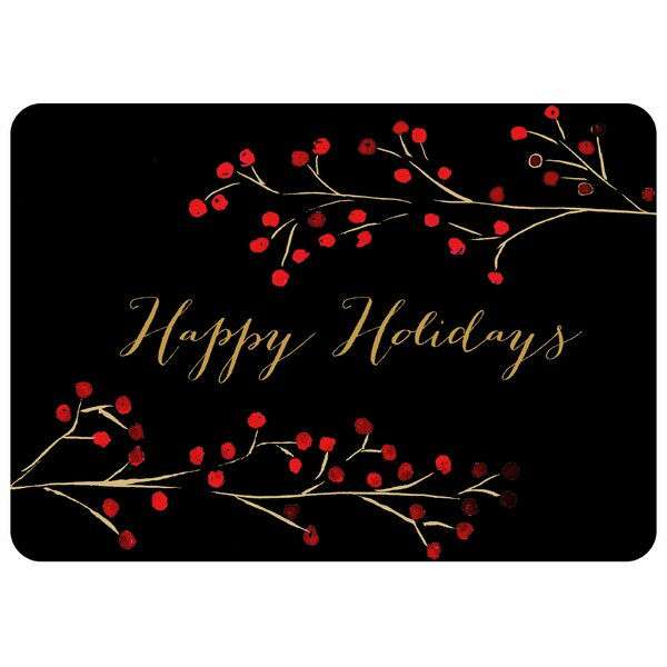 Happy Holidays Kitchen Mat