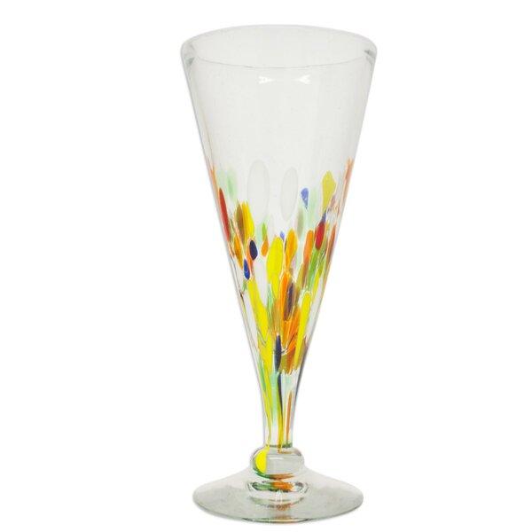 Javier and Efrén Artisan Handblown Crafted 9 Oz. Pilsner Glass (Set of 6) by Novica