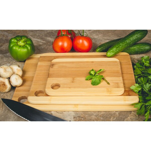 3-Piece Bamboo Cutting Boards by Imperial Home
