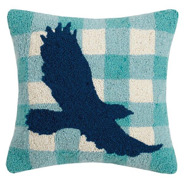 Rapp Plaid Eagle Wool Throw Pillow by Loon Peak