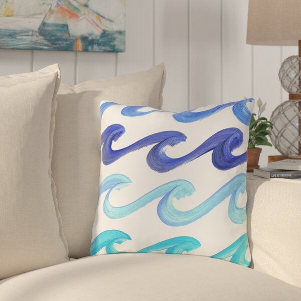 Reversible Lorrie Wave Rider Throw Pillow by Highland Dunes