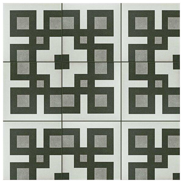 Forties 7.75 x 7.75 Ceramic Field Tile in Corner Gray by EliteTile