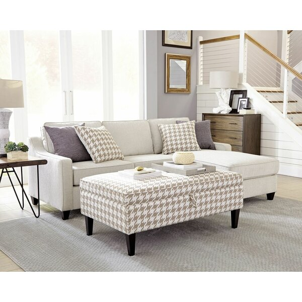 Kizer Reversible Sectional with Storage Ottoman by Latitude Run