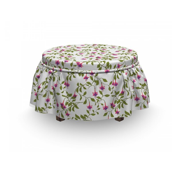 Fuchsia Flower In Blossom Ottoman Slipcover (Set Of 2) By East Urban Home