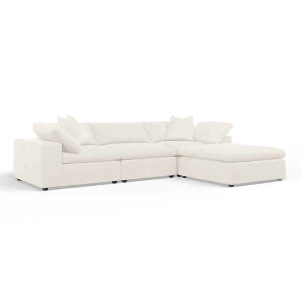 Cameron Reversible Modular Sectional with Ottoman by Wayfair Custom Upholstery™